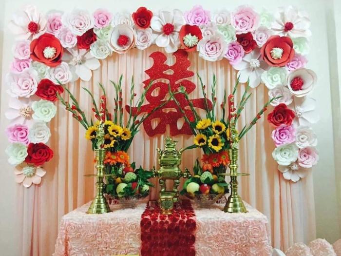 Chiêm bao hình ảnh hoa cưới trên bàn thờ